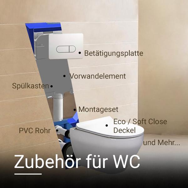 Vorwandelement Ablaufventil Ventil Montageset Spülkasten Schallschutzset